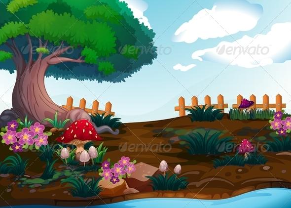 GraphicRiver Garden Landscape 7851629
