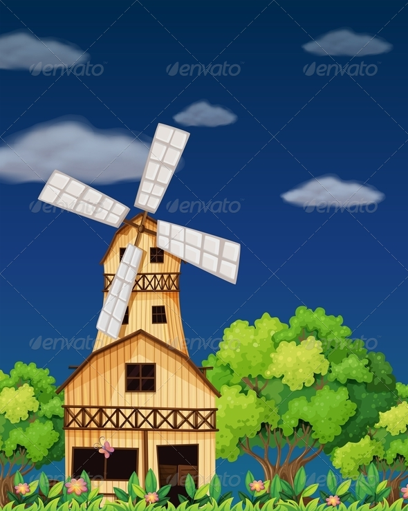 GraphicRiver Wooden Barnhouse in the Forest 7851634