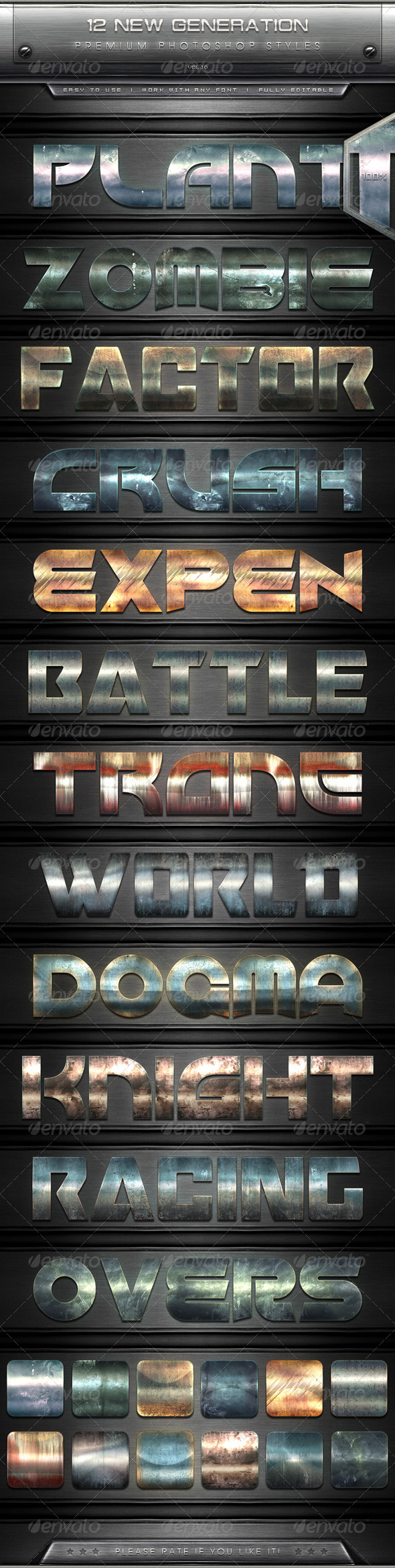GraphicRiver 12 New Generation Text Effect Styles Vol.10 7822412