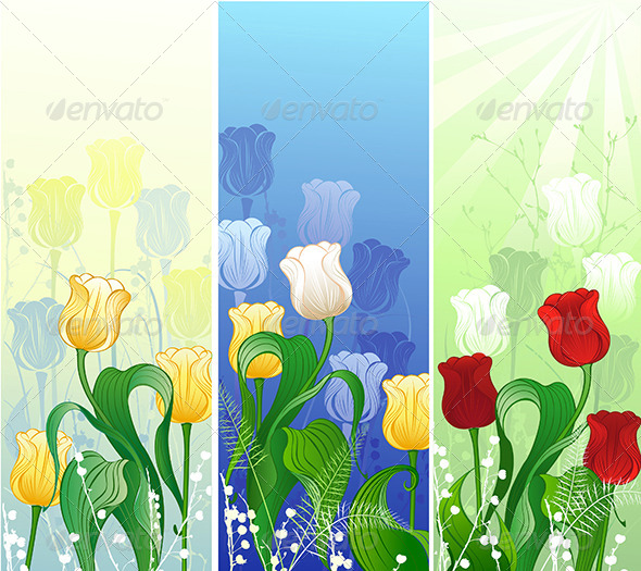 GraphicRiver Banner with Tulips 7851643