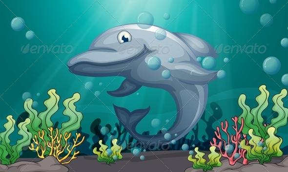 GraphicRiver Dolphin under the sea 7851645