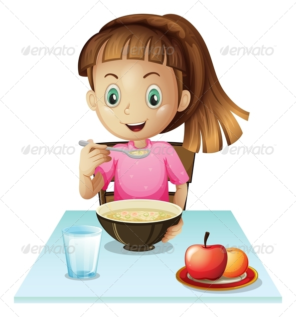 GraphicRiver Girl eating breakfast 7851738