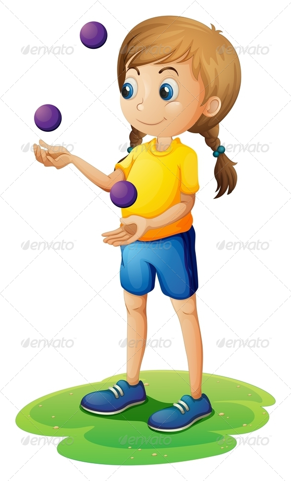 GraphicRiver Juggling Girl 7851742