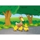 Mother Duck and her Ducklings on a Path