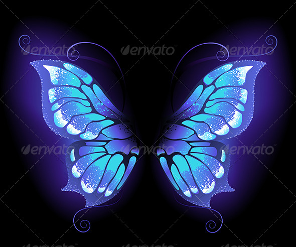 GraphicRiver Glowing Butterfly Wings 7851821