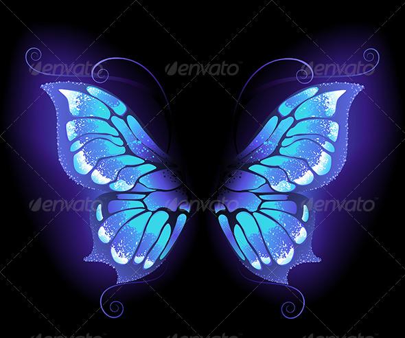 Glowing Butterfly Wings