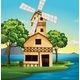 Farmhouse with windmill - GraphicRiver Item for Sale