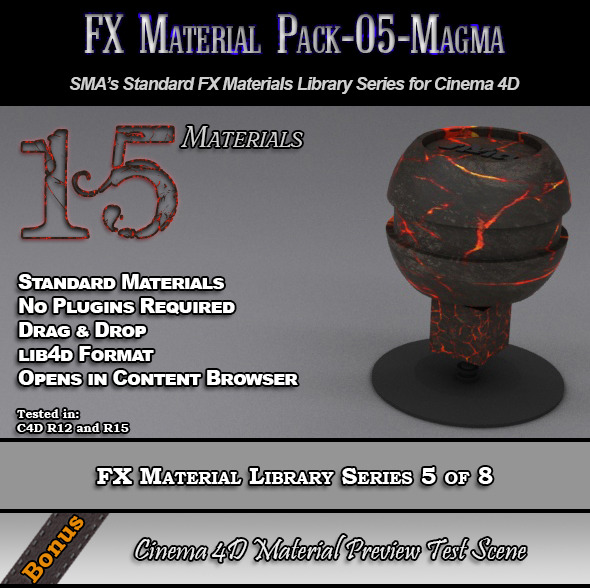 3DOcean Standard FX Material Pack-05-Magma for Cinema 4D 7851882