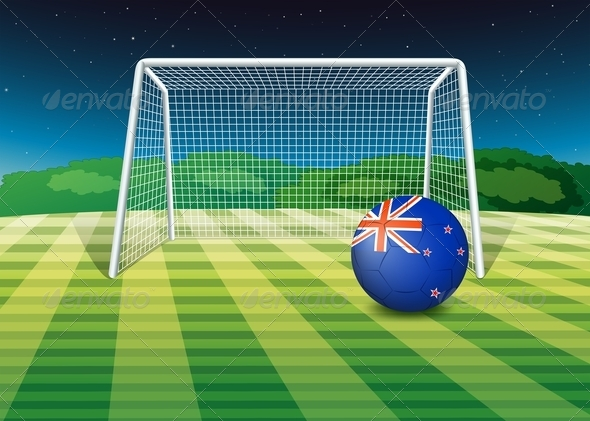 GraphicRiver New Zealand Soccer Ball on the Field 7851883