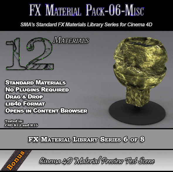 3DOcean Standard FX Material Pack-06-Misc for Cinema 4D 7851919