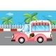 Pink ice cream van - GraphicRiver Item for Sale