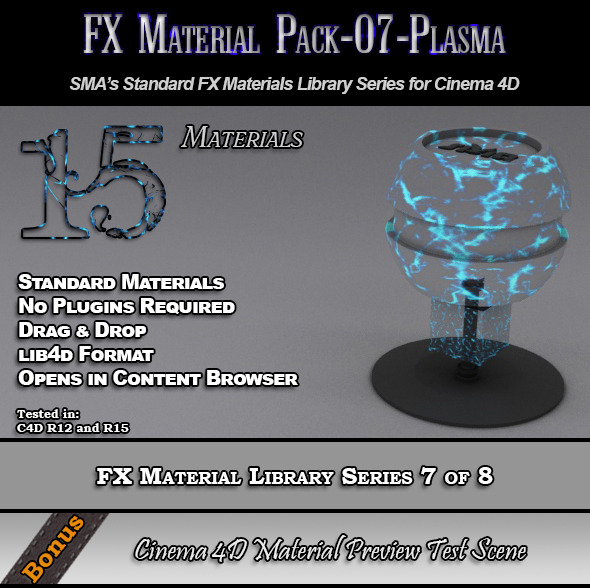 3DOcean Standard FX Material Pack-07-Plasma for Cinema 4D 7851923