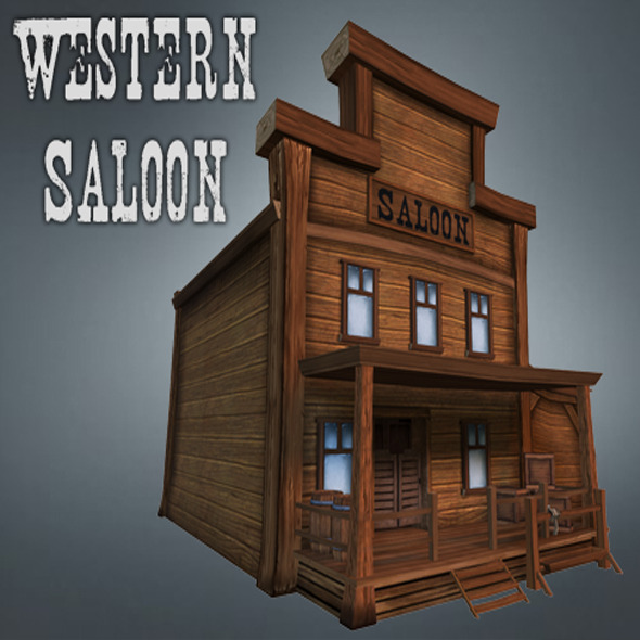 Western Saloon - 3DOcean Item for Sale