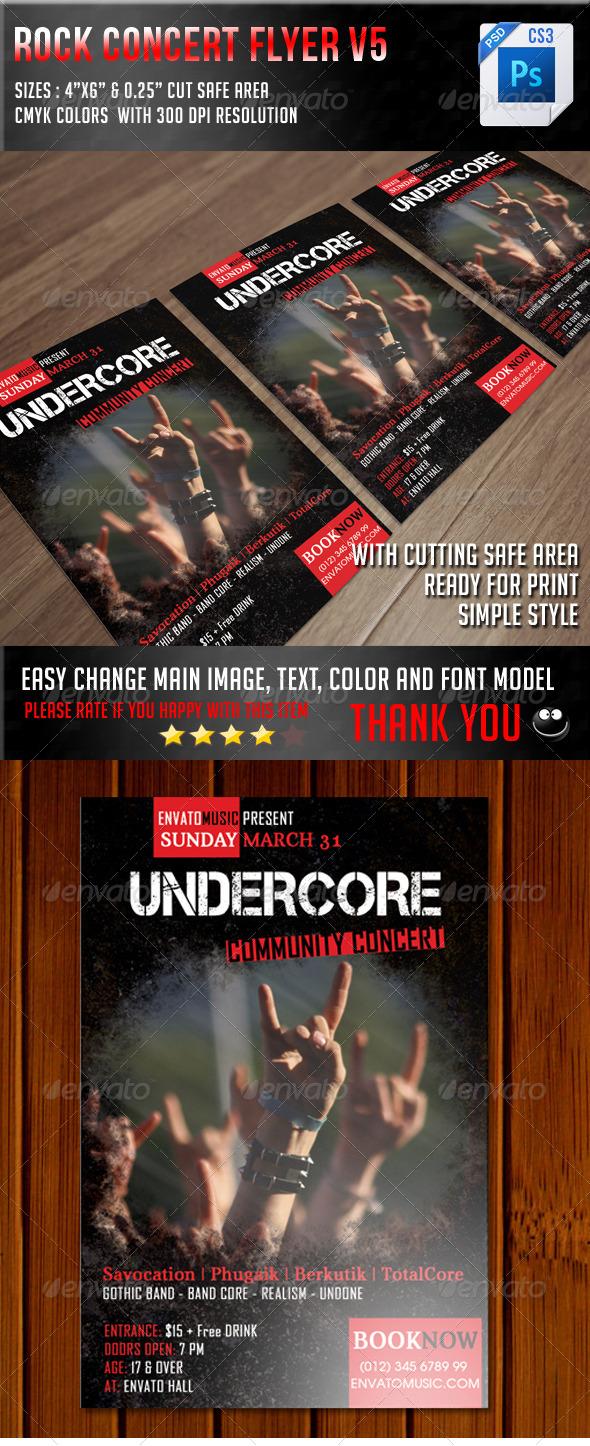 GraphicRiver Rock Concert Flyer V5 7852013