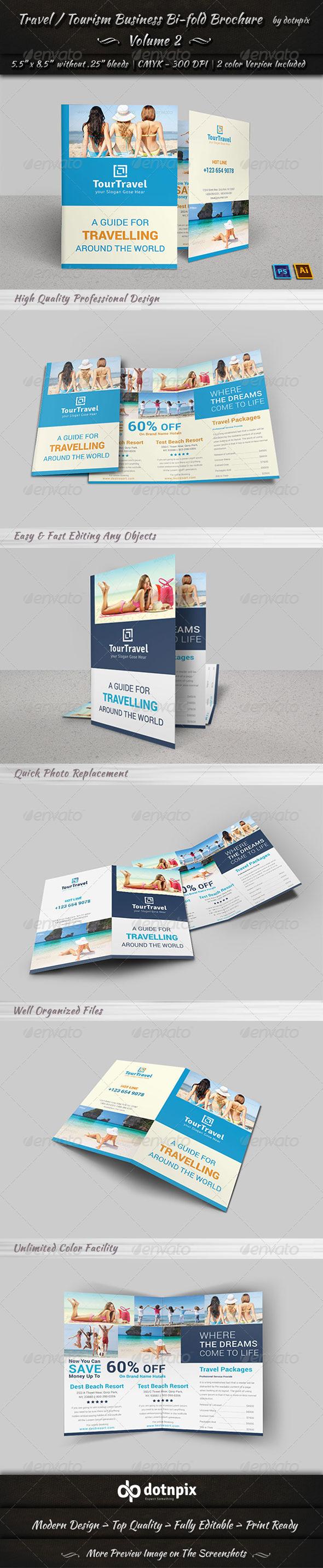 GraphicRiver Travel Tourism Bi-Fold Brochure Volume 2 7852015