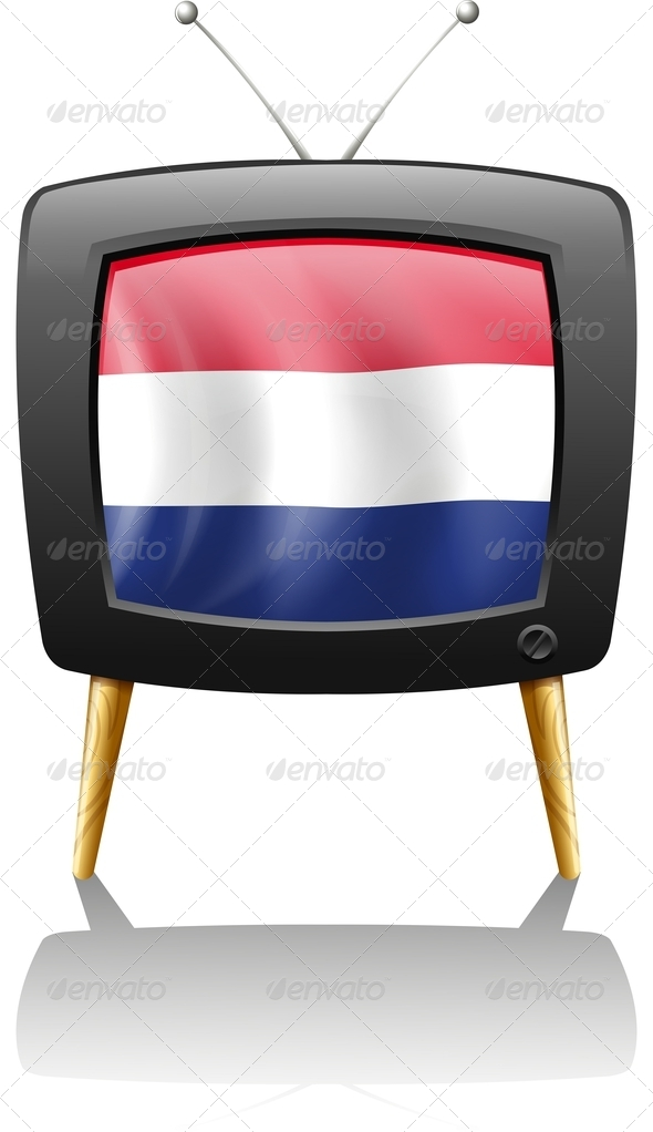 GraphicRiver Television with the flag of the Netherlands 7852195