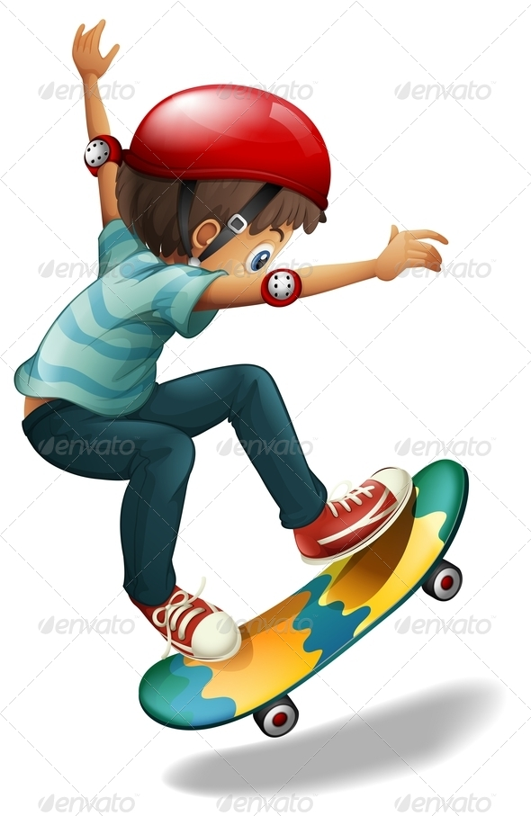 GraphicRiver Skateboarding Boy 7852212