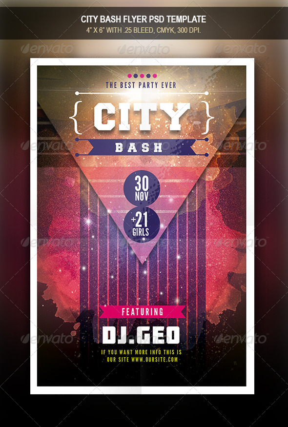 GraphicRiver City Bash Flyer Template 7852272