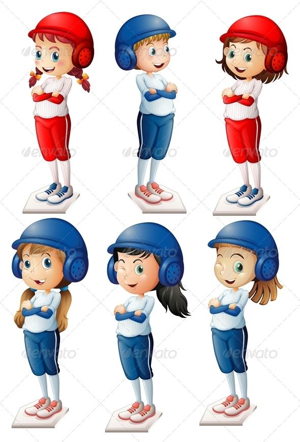 GraphicRiver Six baseball players 7852280