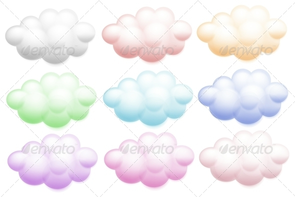 GraphicRiver Colourful clouds 7852312
