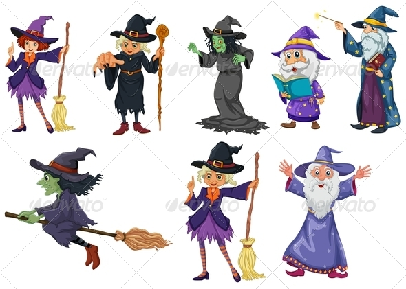 GraphicRiver Group of witches 7852512