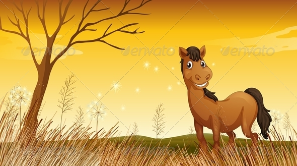 GraphicRiver Smiling horse 7852601