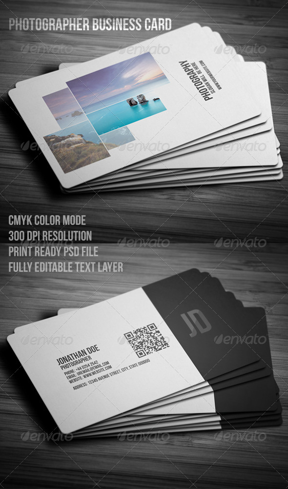 GraphicRiver Photographer Business Card 7852603