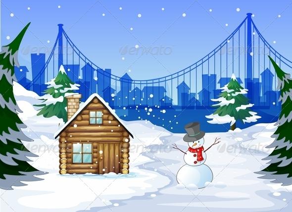 GraphicRiver Winter scene 7852720