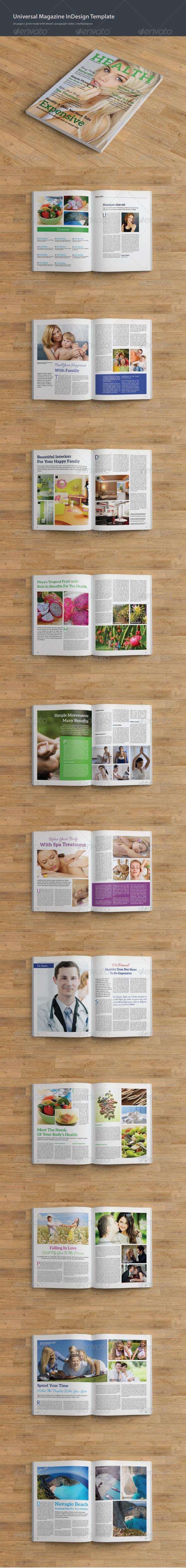GraphicRiver Health Magazine Template 7852741