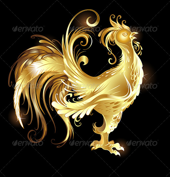GraphicRiver Gold Rooster 7852755
