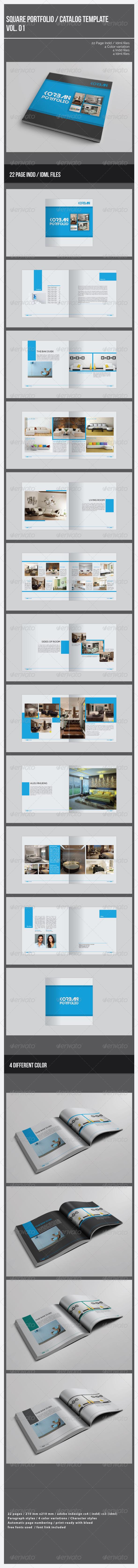 GraphicRiver Square Portfolio Catalog Template 7852771