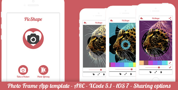 CodeCanyon PicShape Frame Image Editor Full App Template 7852895