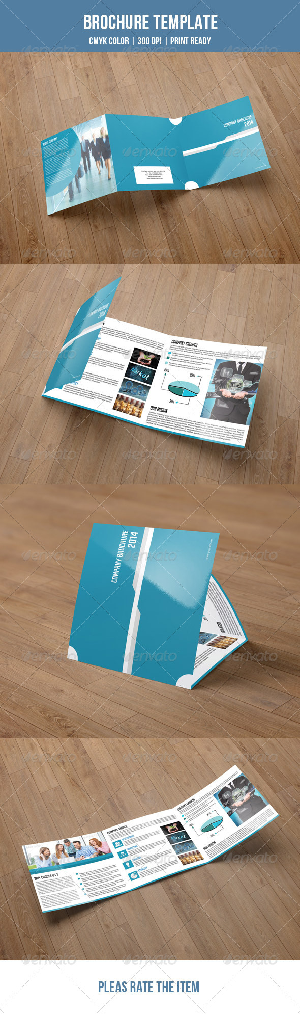GraphicRiver Square Trifold Brochure-V03 7852900
