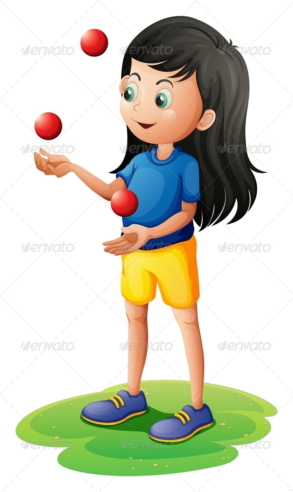 GraphicRiver Girl Juggling 7852936