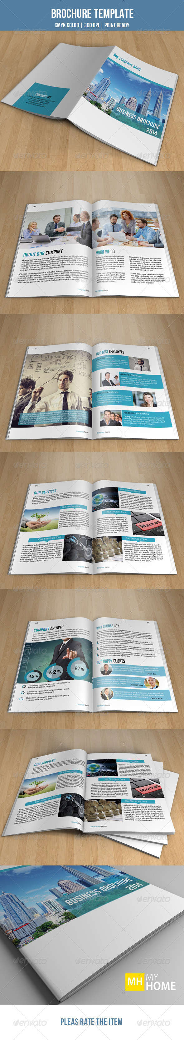 GraphicRiver Bifold Business Brochure-V23 7852965