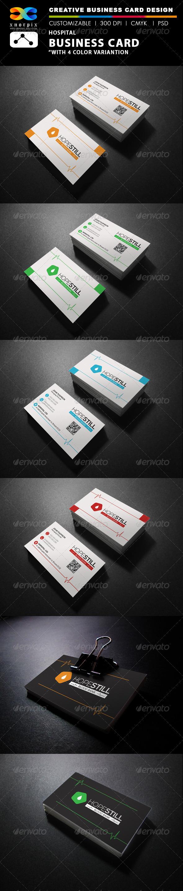 GraphicRiver Hospital Business Card 7852989