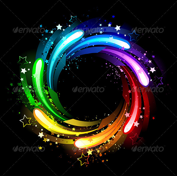 GraphicRiver Round Rainbow Banner 7853013
