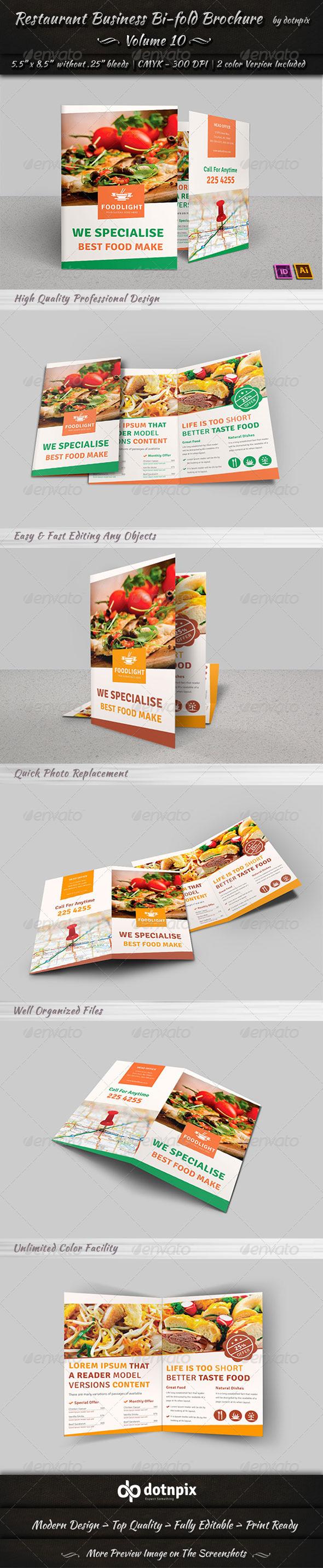 GraphicRiver Restaurant Business Bi-Fold Brochure Volume 10 7853071