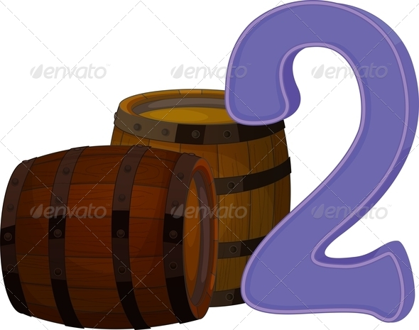 GraphicRiver Two wooden barrels 7853159