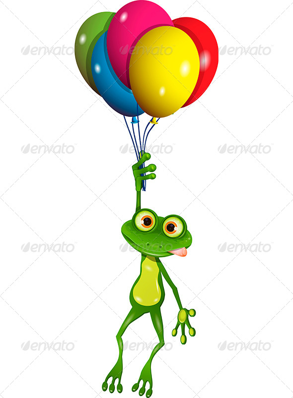 GraphicRiver Frog on Balloons 7853165