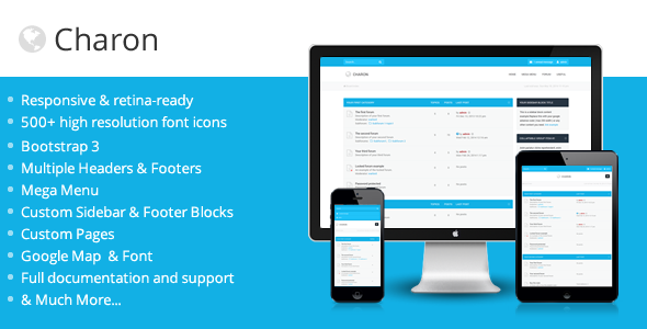 ThemeForest Charon Bootstrap 3 Responsive phpBB3 Theme 7808334