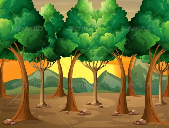 GraphicRiver Trees in the Forest 7853261