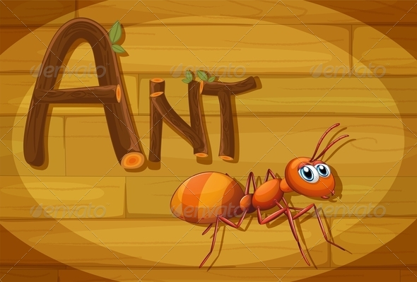 GraphicRiver Wooden Frame with Ant 7853272