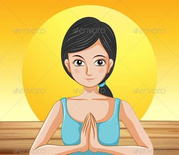 GraphicRiver Pretty lady doing yoga 7853279