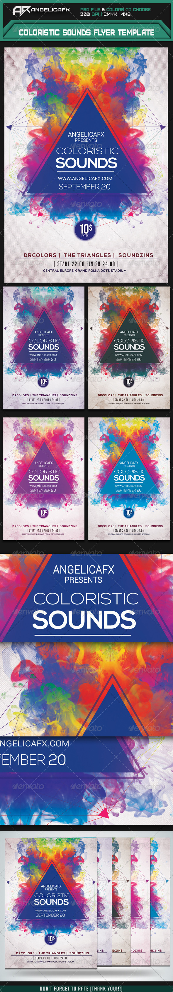 GraphicRiver Coloristic Sounds Flyer Template 7853289