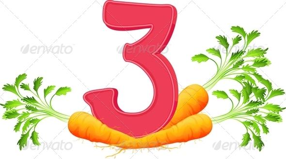 GraphicRiver Three Carrots 7853298
