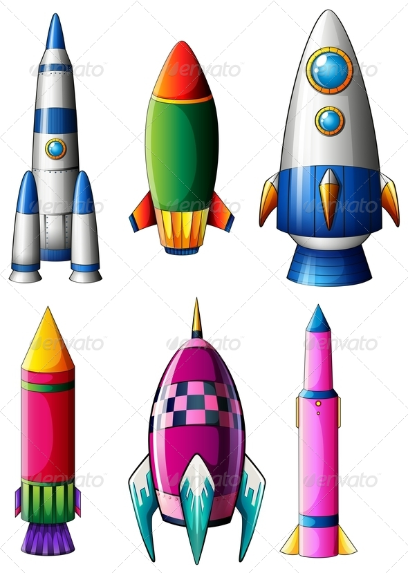 GraphicRiver Set of Rocket Designs 7853323