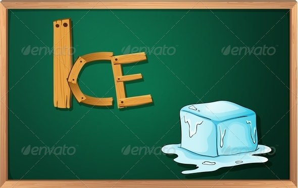 Blackboard with Ice