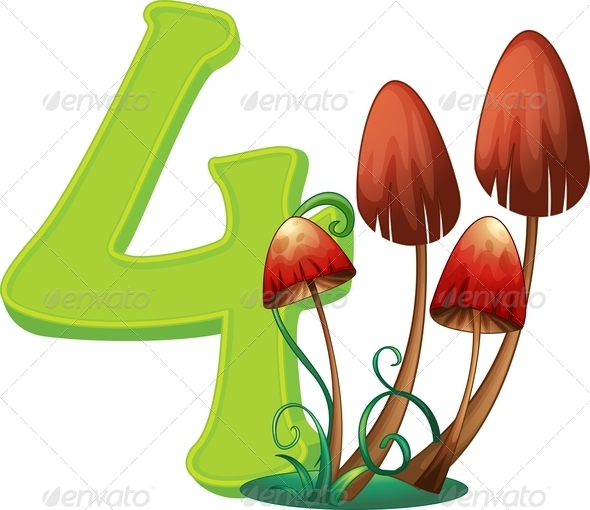 GraphicRiver Four Mushrooms 7853420