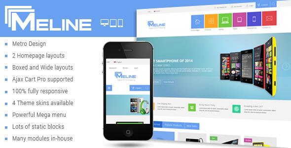 Meline - Responsive Multipurpose Magento Theme - Technology Magento